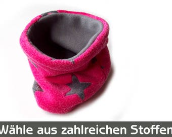 Hundeloop, Hundeschal, Hundehalsband, Loop für Hunde, Schal für Hunde, Hundeloop pink grau Sterne, Fleece, Hunde Loop, Hunde Schlauchschal