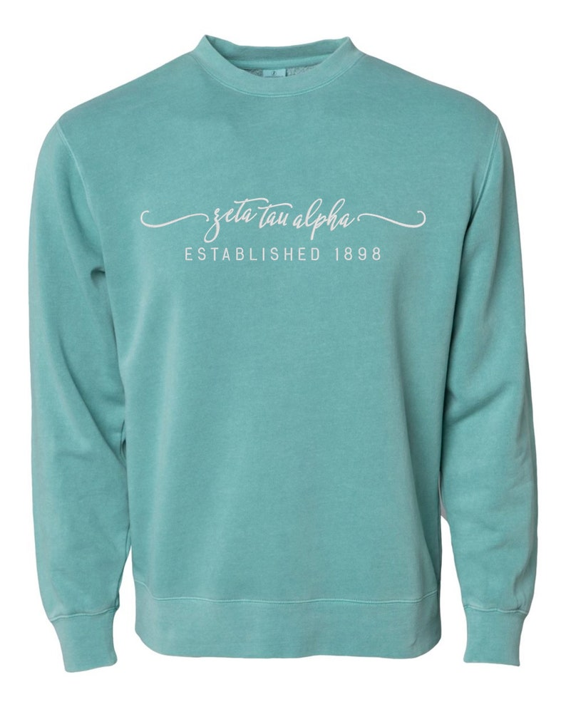 de37ab46 Greek stitched sorority name on sweatshirt of your choice.   Etsy