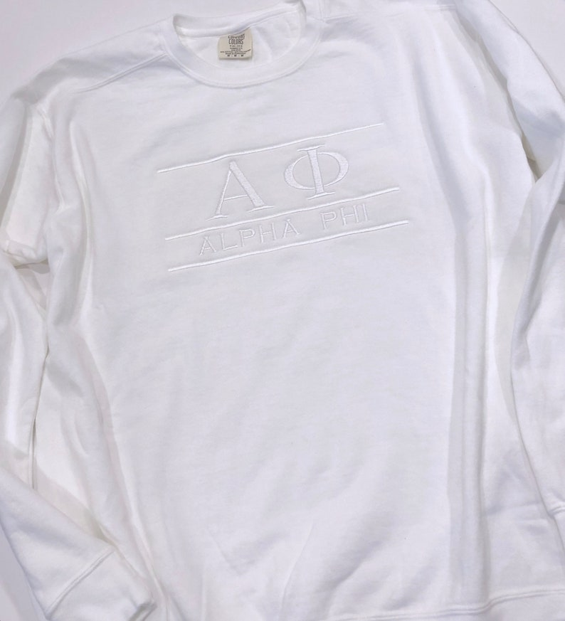 03acc351 ANY letters ANY color Greek stitched letters and sorority   Etsy