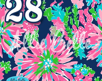 5f071ea35e4a78 Lilly inspired 12 x 12 Heat Transfer Vinyl. Latest Prints. Trippin & Sippin.  Multiple Sheet Sizes Available. 8.5 x 11. 12 x 24. 18 x 18 +