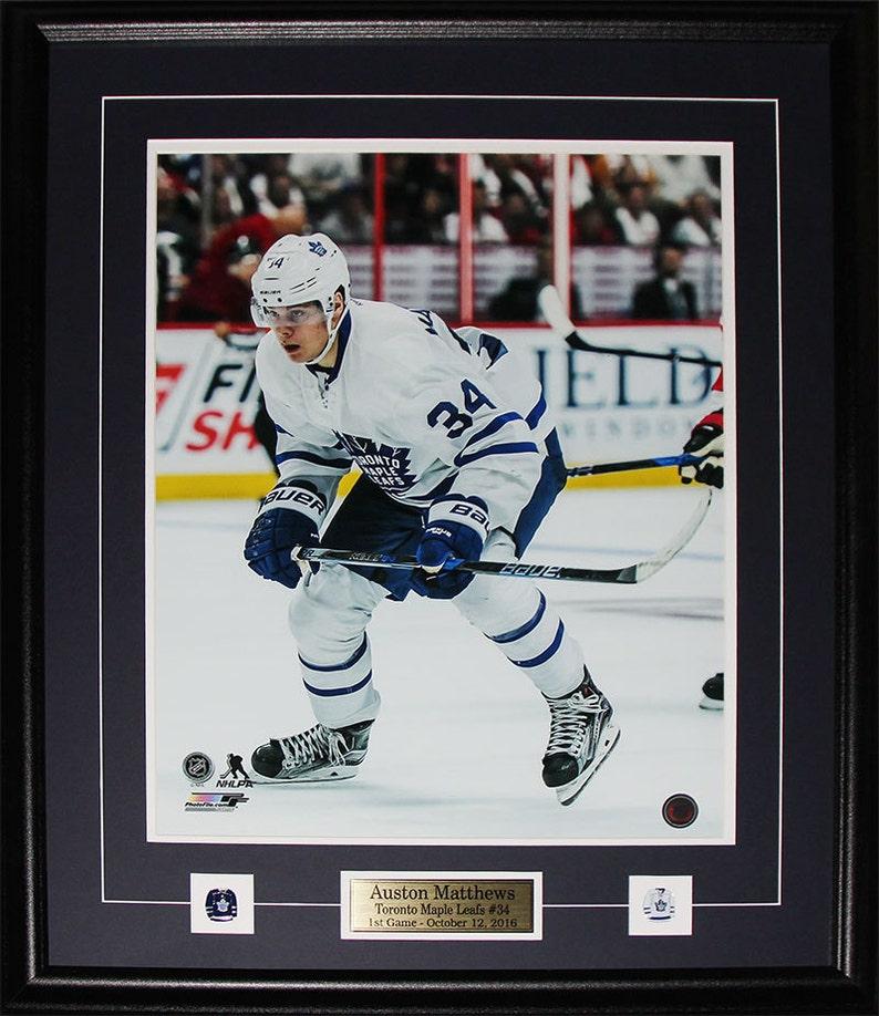 100% authentic f1190 882eb Auston Matthews Toronto Maple Leafs 16x20 frame