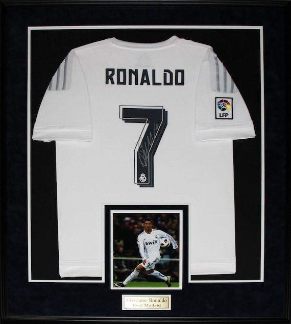 Cristiano Ronaldo Real Madrid Fc Signed Soccer Football Jersey Etsy