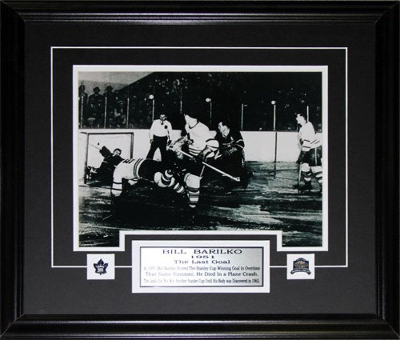 Bill Barilko Toronto Maple Leafs Stanley Cup Overtime Winning Goal 11x14 frame