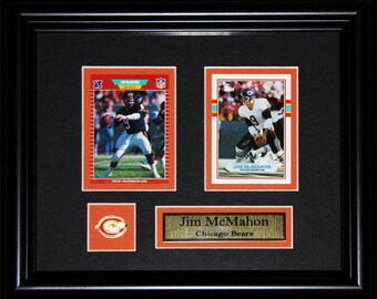 Jim McMahon Chicago Bears NFL Football 2 card frame