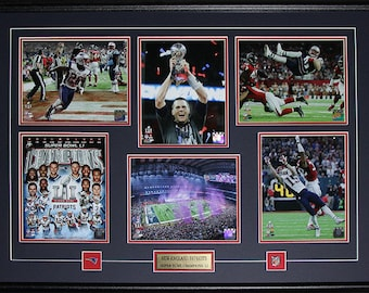 New England Patriots Superbowl LI Brady Edelman White 6 photograph frame