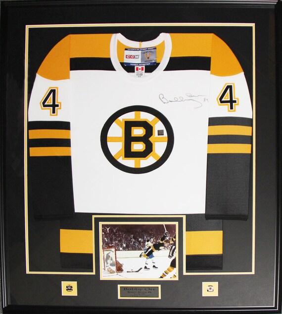 753f4cd4e Bobby Orr Boston Bruins signed jersey frame