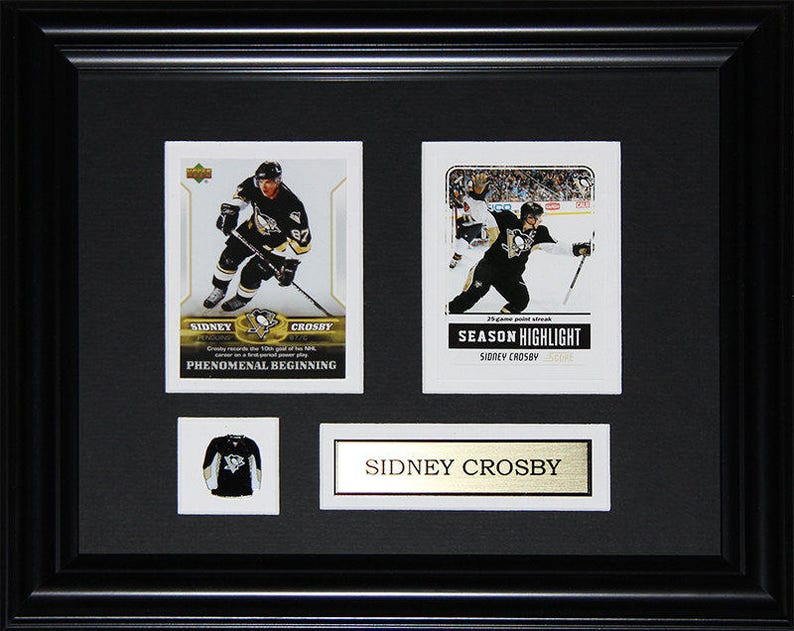 Sidney Crosby Pittsburgh Penguins Nhl 2 Card Hockey Frame
