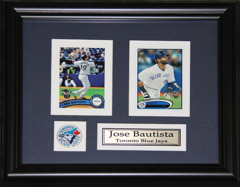 6ba33428f Jose Bautista Toronto Blue Jay MLB Baseball 2 card frame