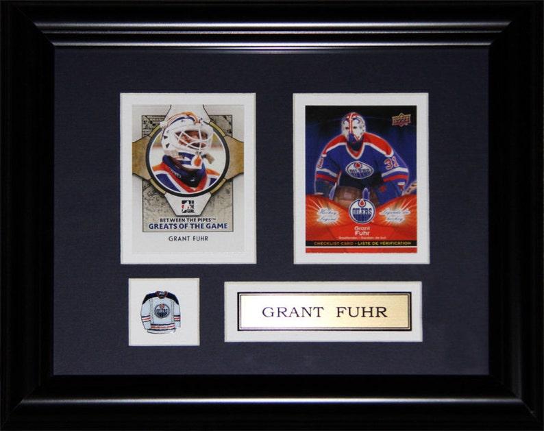 Grant Fuhr Edmonton Oilers 2 Card Frame