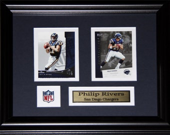 Phillip Rivers San Diego Chargers NFL football 2 card frame