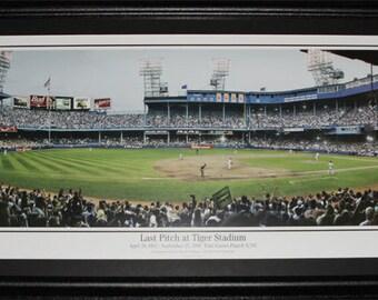Detroit Tigers Stadium Final Pitch 1999 baseball Panorama frame