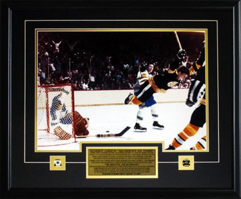 499954d11 Bobby Orr The Goal Color 16x20 Boston Bruins Frame