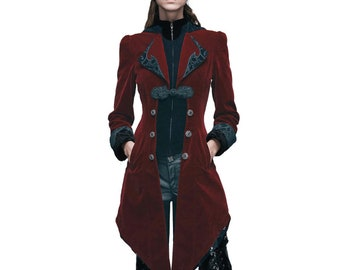 Victorian Edwardian Sherlock Holmes Theater Military Winter Steampunk Punk Coat Dress Cosplay Theater Costume