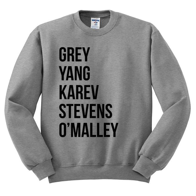 Greys Anatomy Sweatshirt Grey Yang Karev Stevens image 0