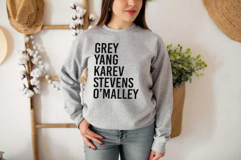 Greys Anatomy Sweatshirt Grey Yang Karev Stevens image 1