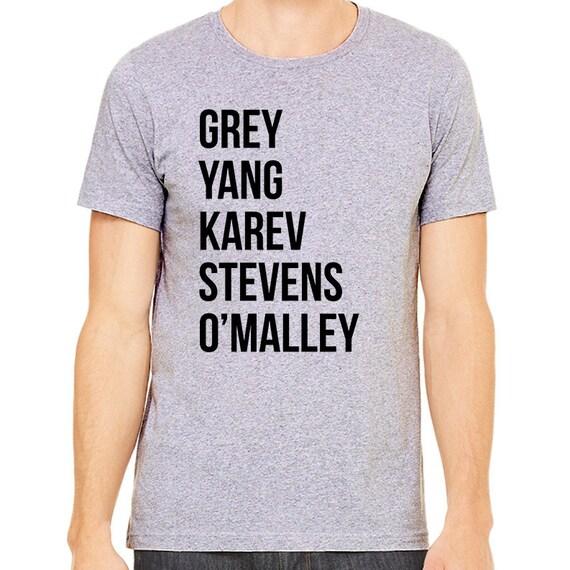 Grises anatomía camisa gris Stevens Karev de Yang o | Etsy
