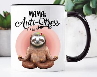 Cup Printed Sloth Moms Anti-Stress Cup, Gift Mom Birthday Coffee Mug Coffee Mug