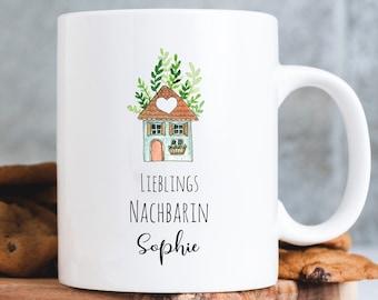 Mug printed favorite neighbor, personalized with desired name Gift Christmas