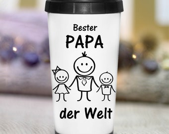 Thermobecher Isolierbecher Spruch Becher bedruckt Geschenk Bester Bruder tb102
