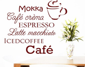 Wandtattoo kaffeetasse   Etsy