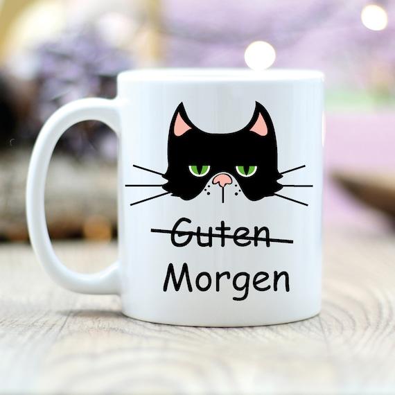 Geschenk Tasse Kaffeetasse Guten Morgen Katze