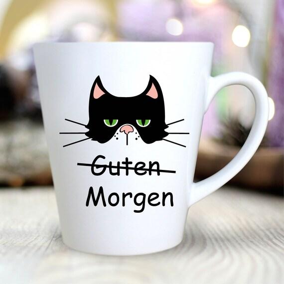 Kaffeetasse Guten Morgen Grimmige Katze