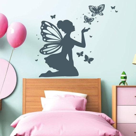 Wandtattoo Kinderzimmer Elfe Schmetterlinge Prinzessin Madchen