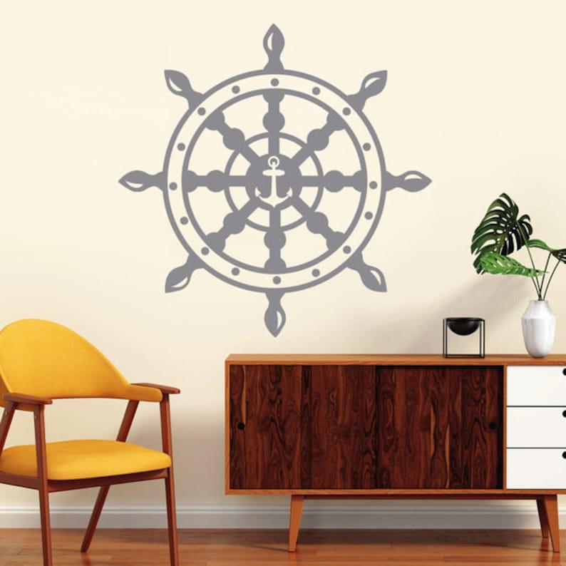Wall Tattoos steering Ship Anchor Maritim