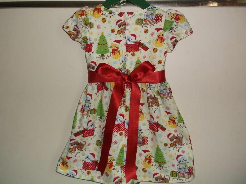 Christmas kittens lemon dress