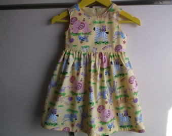 Nursery zoo yellow dress