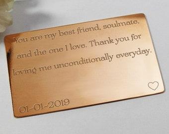 Engraved gift for boyfriends birthday custom birthday wallet insert personalised boyfriend birthday card boyfriend wallet insert keepsake