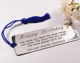 Nephew Bookmark Engraved Gift Customised Personalised Birthday For Men Him Custom Metal