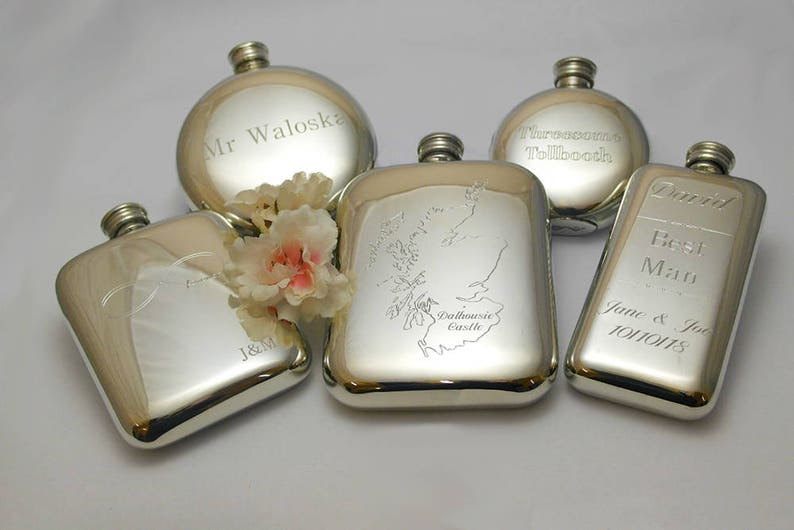 Husband Hip Flask Birthday Gift Engraved