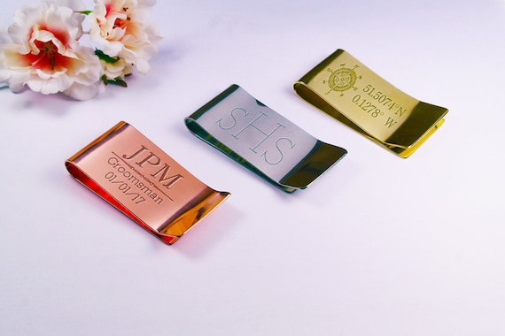 Personalized Money Clip For Dad Gifts For Husband Boyfriend Gift High Quality Leather Money Clip For Men Gifts For Men