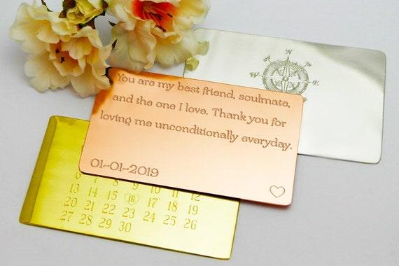 Husband Birthday Wallet Insert Card Gift For Him