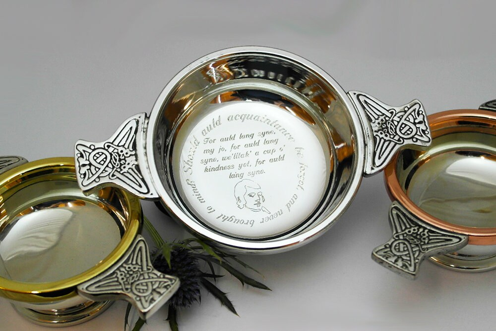 Scottish Wedding Gifts: Celtic Wedding Gift Engraved Quaich Personalised Quaich