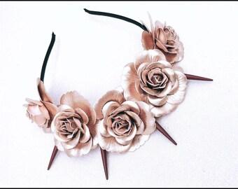 Custom made Spike flower crown
