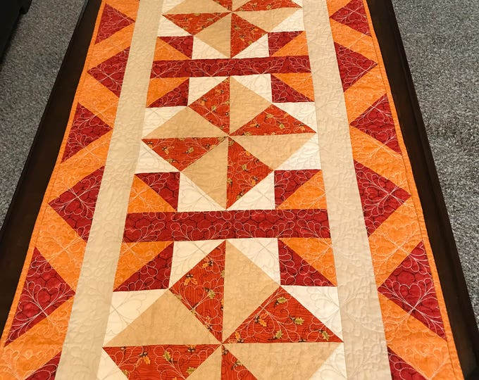 Quilted Flying Windmill Table Runner