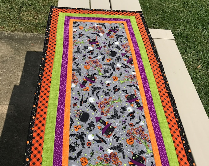 SALE - Quilted Halloween Table Runner