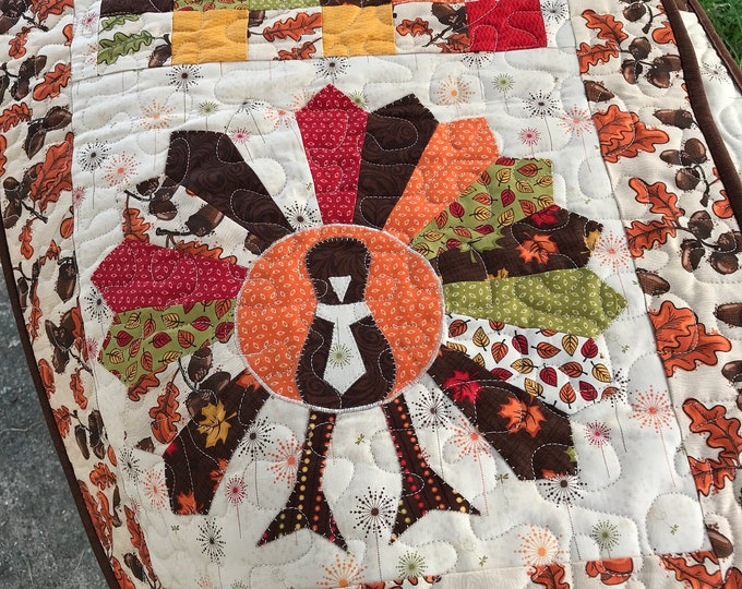 Quilted Let's Talk Turkey Table Runner