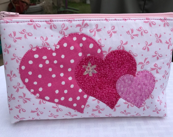 Appliquéd or Embroidered Zipper Pouch