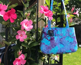 Baker Street Bag Turquoise and Purple