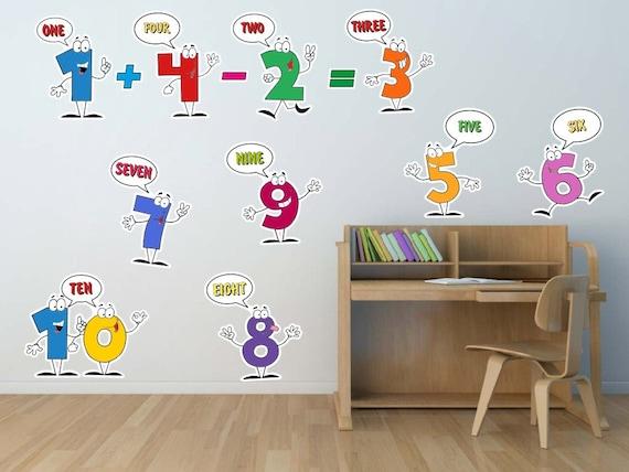 1-10 Numbers Kids Wall Decal Classroom decor Nursery Art | Etsy