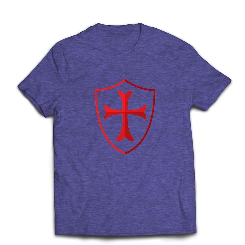 e0cf9bcad Lepni.me Men's T-shirt The Knights Templar Shield Red   Etsy