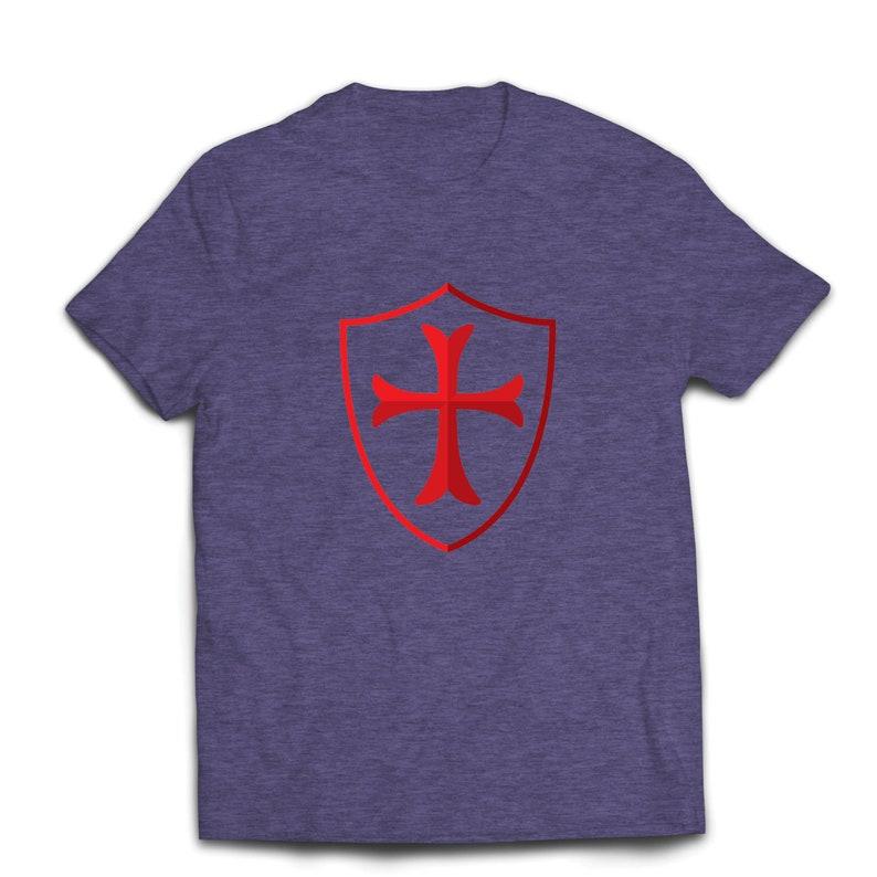 ddcb6e64 Lepni.me Men's T-shirt The Knights Templar Shield Red | Etsy