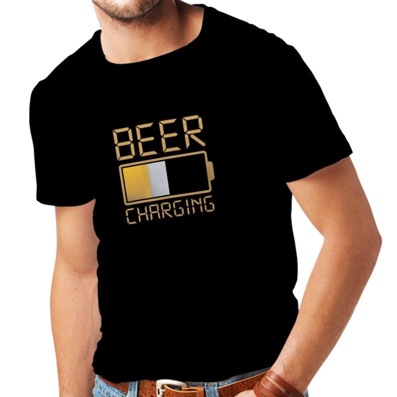 84f830412 Beer Shirt Drinking Shirt Beer Print Mens T-shirt Drinking   Etsy