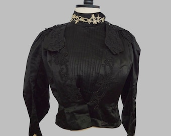 Vintage Black Ladies Top