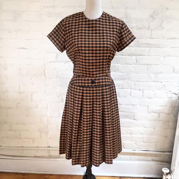Vintage Gingham Picnic Dress