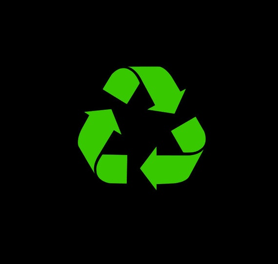 Recycle Symbol Vinyl Decal In Your Choice Of Size And Color Etsy