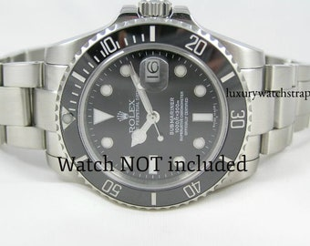1fe2a2408af Solid stainless steel 316L bracelet for Rolex Submariner GMT Deep Sea 20mm  Watch (No Watch - Strap ONLY. NO Rolex markings)